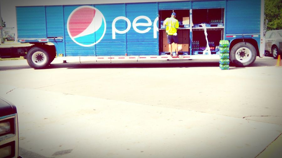 Delivery Truck Delivery Man Pepsi Street Photography