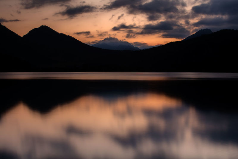 Reflection Mountain Sky Water Lake Beauty In Nature Cloud - Sky No People Sunset Landscape Nature