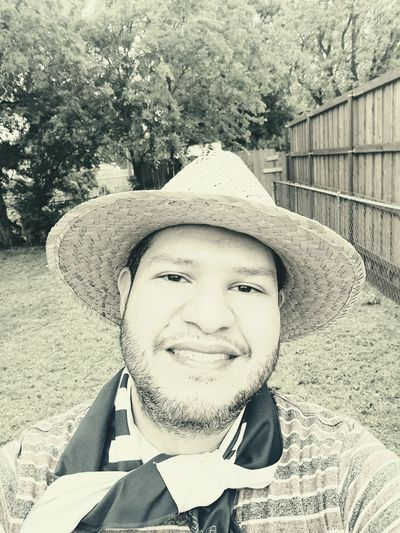 Working Man Hat Working Man Working Yard Yardwork Antique Oldstyle Trees Grass Fence Wooden Fence Man Smile Smiling Face Upclose  Happy Person Male Human Face