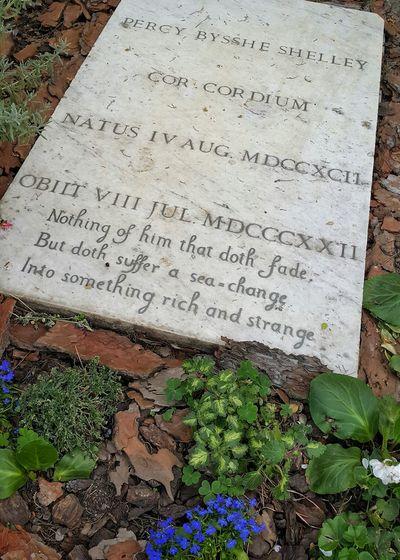 Gravestone of English Romantic poet Percy Shelley Testaccio  Cimitero Acattolico Percy Bisshe Shelley Poet Romantic Rome
