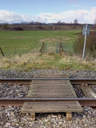 Railway Track Outdoors Countryside No People