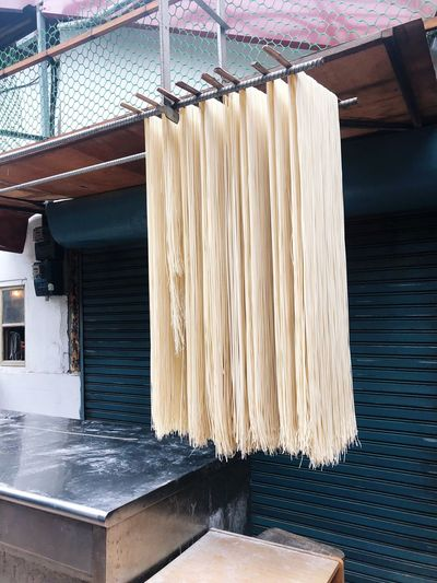 Hanging the Noodles to Dry Asian Foods Chinese Food Food Cuisine Asia Culture ASIA Street Market Street Photography Street Outdoors Market Udon Kaohsiung, Taiwan Kaohsiung Taiwan Drying Handmade Homemade Noodles No People Indoors  Nature Day Wood - Material Pattern Architecture Hanging Built Structure