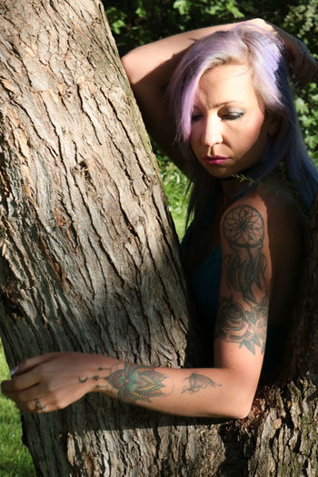 The Great Outdoors - 2017 EyeEm Awards The Portraitist - 2017 EyeEm Awards Tattoo Women Tiina Kit Carson Park Beauty In Nature Tree One Girl Only Escondido, Ca One Woman Only Only Women Young Women Standing Leafs 🍃 Plant Outdoors Beautiful Woman Close-up Human Body Part One Person One Young Woman Only Enjoyment Leisure Activity Portrait