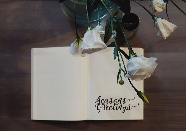 Last year I have set my alarm clock for this year to be in time with these haha :D Text Paper Flower Table Western Script Indoors  Communication No People Gift White Color Nature Close-up Handwriting  Positive Emotion High Angle View Message Seasons Greeting