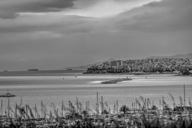Seascape from the Stavros Niarchos Foundation Cultural Center Cloud GREECE ♥♥ Black And White Blackandwhite Building Exterior Built Structure City Cityscape Cloud - Sky Clouds And Sky Day Greece No People Outdoors Scenics Sea Sea And Sky Seascape Sky Tranquility Travel Destinations Water Waterfront