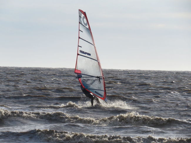 Weston-super-mare Somerset England Taking Photos Check This Out Outdoors People Of The Oceans Feel The Journey Ocean View Ocean_Collection ~~ Sea And Sky Sailboarding Watersports Photography