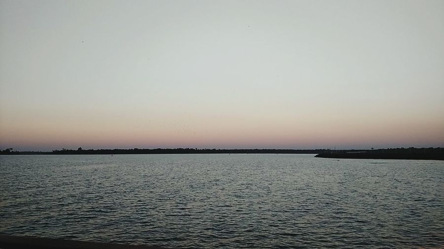 The last horizon,great lake Itaipulake Horizon Over Water Water Sea Sunset Clear Sky Blue
