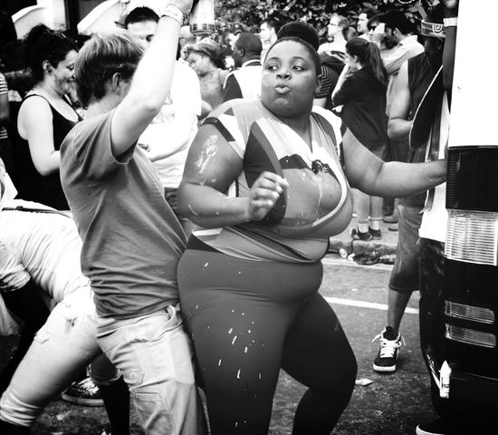 Notting Hill Carnival Dancer Bumpin' Blackandwhite