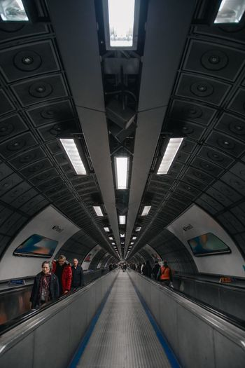 The tube Street Photography London The Tube  Architecture Built Structure Transportation The Way Forward Direction Travel Indoors  Modern Diminishing Perspective Mode Of Transportation Incidental People Public Transportation Subway Station