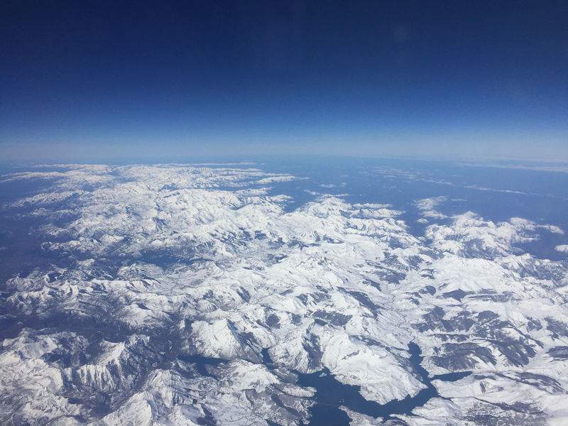 Aerial View Beauty In Nature Blue Clear Sky Cold Temperature Copy Space Idyllic Landscape Mountain Nature Pyrenees Scenics Season  Sky Snow Snowcapped Mountain Tranquil Scene Tranquility Weather White Color Winter