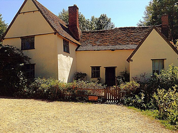 A lovely looking cottage style house situated at Flatford Mill, Deadham Essex Wallpapers Pathway Dedham Garden Flowers Walls Windows Garden Pathway Cottage Flatford Mill EyeEmNewHere Building Exterior Architecture Built Structure Building House Shadow Clear Sky Outdoors Sunlight Sky Day Plant Tree Window Roof