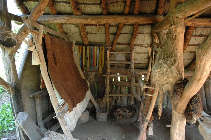 Art And Craft Built Structure Day Farm Handcraft Historical Town House Interior Material No People Old Old Shed Outdoor Living Weaving Wood - Material