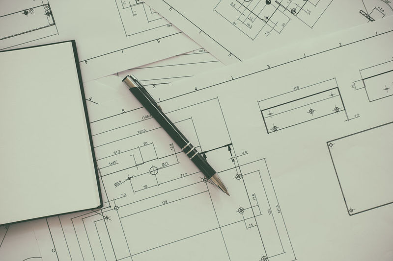 Accuracy Architecture Backgrounds Blueprint Chart Close-up Diagram Drawing - Activity Geometry Indoors  No People Paper Paperwork Plan Planning Ruler Sketch Technology Work Tool Working