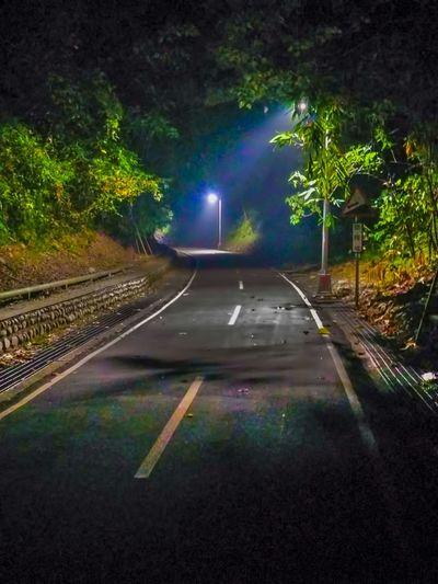 Astronomy Beauty In Nature Illuminated Night No People Outdoors Road Sky Street Light Transportation Tree