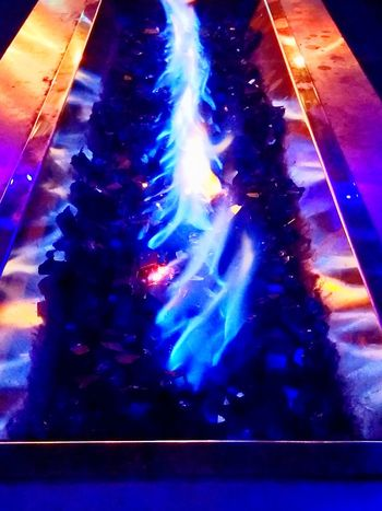 Cool Fire Fire Firepits Colorful colour of life Illuminated Multi Colored Blue Close-up