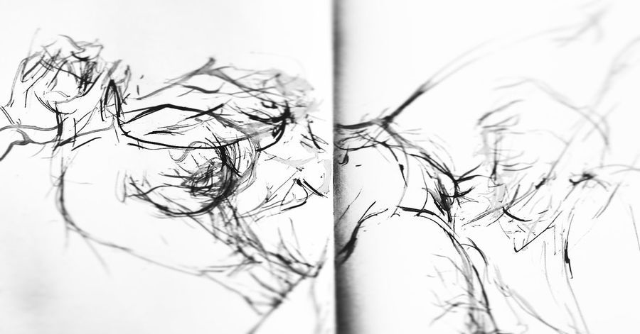 Check This Out Enjoying Life Painting Woman Akt Makelovenotwar Selfmade Pencil Selfmade Artwork Hairline Drawing Having A Good Time Paintings Bodyart Feelingfree Hello World Minimalism Tusche Ink Inked