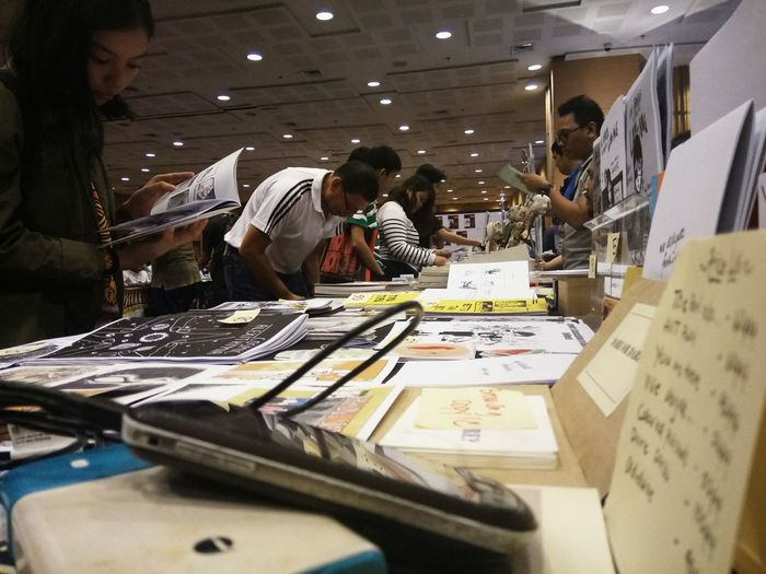 Not old for comics Komikon Comicbooks People Convention Reading Peoplewatching Indoors  Welovecomics