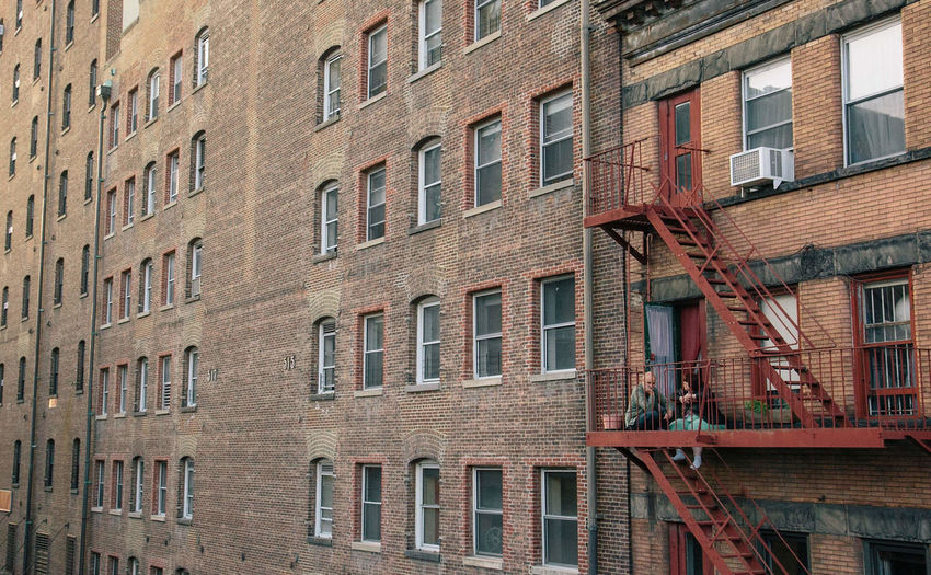 Apartment Architecture Backgrounds Brick Brick Wall Building Building Exterior Built Structure City Day Full Frame In A Row Low Angle View No People Old Outdoors Repetition Residential District Wall Wall - Building Feature Window