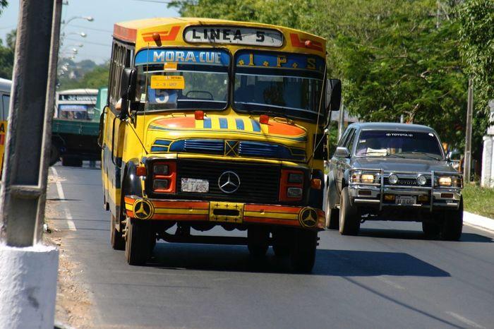 2005 Asunción Bus Colorful Paraguay Paraguay-Asuncion Public Transportation