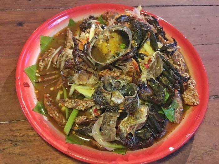 Thai food Asia Food Somtum Pu-plarha Somtum Tard Papaya Salad Food And Drink Food Healthy Eating Freshness Plate Ready-to-eat Wellbeing Bowl Meal Table