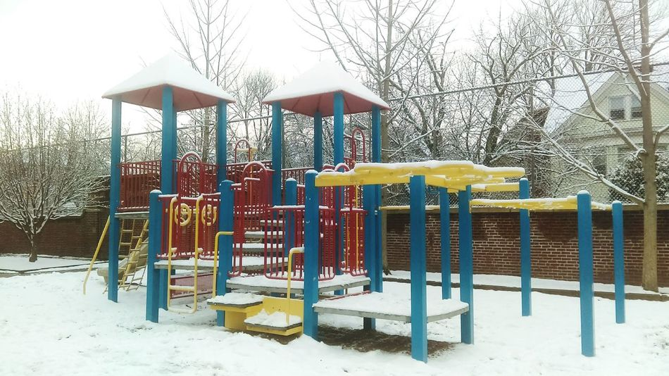 Just to run around here during recess Winter Snow Playground Sand Slide - Play Equipment Nature Cold Temperature Outdoors Childhood Tranquility Outdoor Play Equipment Bare Tree Tree No People Jungle Gym Beauty Beauty In Nature Day