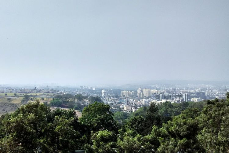 Watching Pune City from Top of Sinhgad college of engineering. Scoe