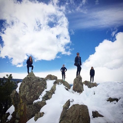 Landscapes With WhiteWall Boulder Colorado Album Cover Hiking Snow Mountains