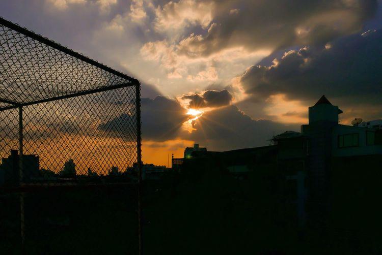 Sunset Sunset Sky Silhouette City Sun