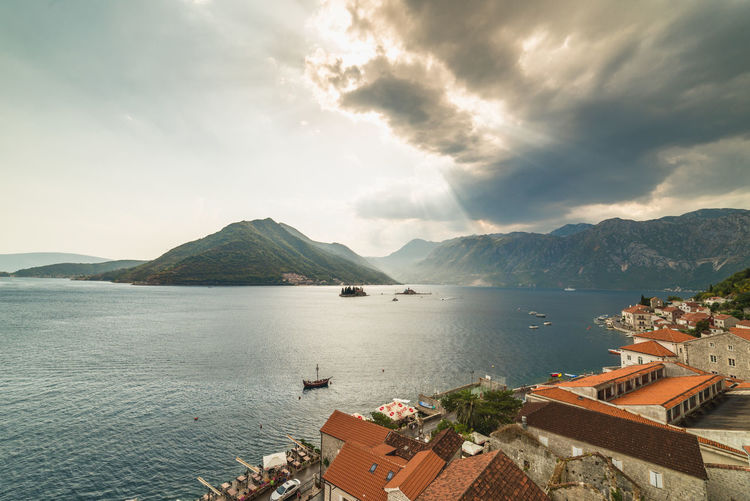 cloudy sky over Perasto, Bay of Kotor, Montenegro Landscape_Collection PERAST Travel Architecture Beauty In Nature Cattaro Cloud - Sky Day High Angle View Kotor Landscape Landscape_photography Montenegro Montenegro Wild Beauty Mountain Nature Nautical Vessel No People Outdoors Perasto Scenics Sea Sky Travel Destinations Water