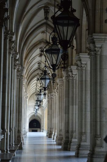 Empty corridor in st stephen cathedral