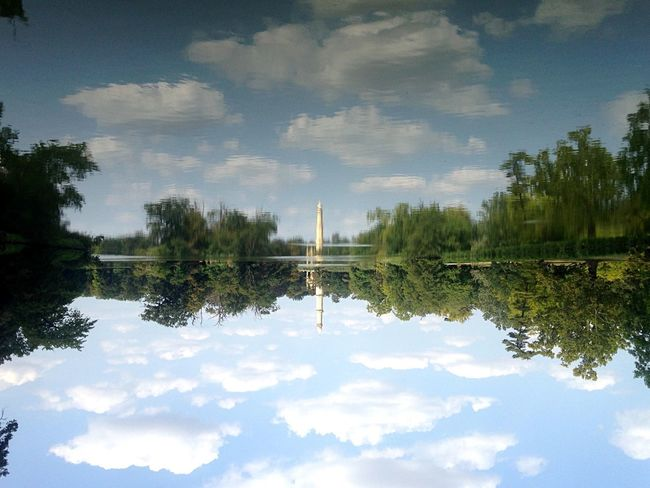Mirror Reflection Water Cloud - Sky Tree Sky Plant Lake Symmetry Architecture Built Structure Travel Destinations