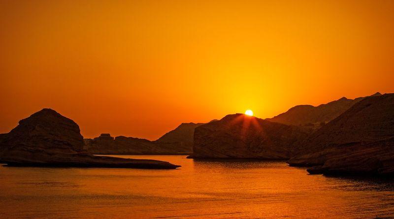 Sunrise on the beautiful Bandar Jissah beach Visit Oman beauty Sunrise