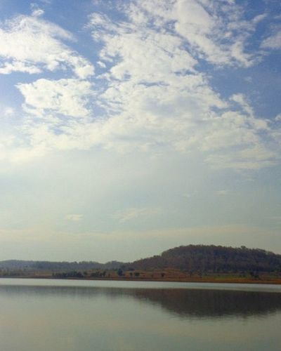 Riverside Nature Sky River Countryside Kanholi India Clouds Sundown