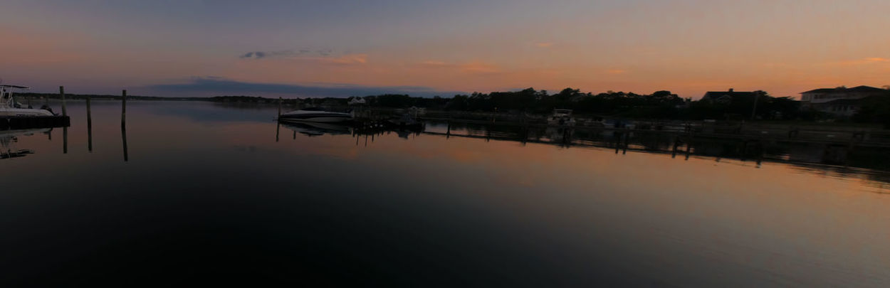 Dawn @ Shinnecock Bay, NY - 8/28/16 2 Frames Stitched Together As I Sees It The Journey Is The Destination