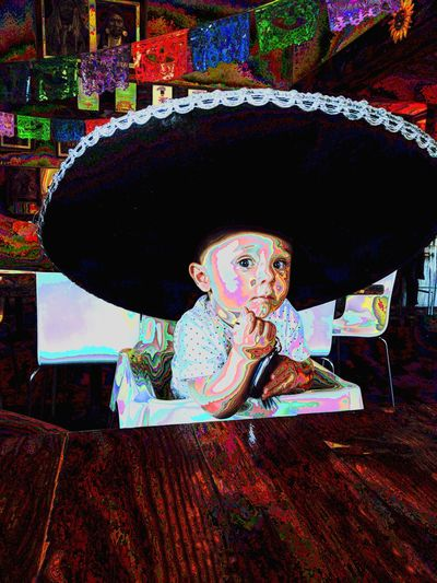 hey gringo you're not from around these parts Baby Boy Mexican Mexican Food Sambrero Perthisok Jaspercharles Multi Colored Doll Close-up