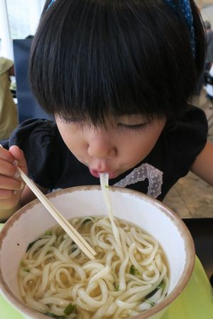 Food And Drink Noodles Child Chopsticks Love Happiness Girls Daughter Children Only Black Hair Powershot G9 うどん Ehime Ehime,Japan EyeEmJapan