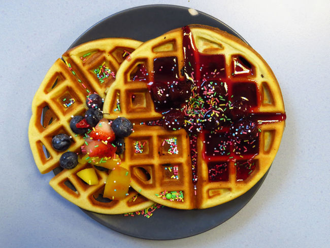 Waffle Waffle Time Waffles Belgian Waffles Blueberries Blueberry Cherry Sauce Delicious Directly Above Food Food And Drink Food Porn Foodphotography Foodporn Freshness Fruit Ready-to-eat Sprinkles Strawberries Strawberry Streusel Sweet Food Temptation Treat Waffles And Berries