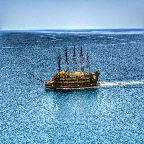 Пираты Средиземного моря турция анталия Лара средиземноеморе пираты корабль хдр Mediterraneansea Turkey Antalya Ship Pirates HDR