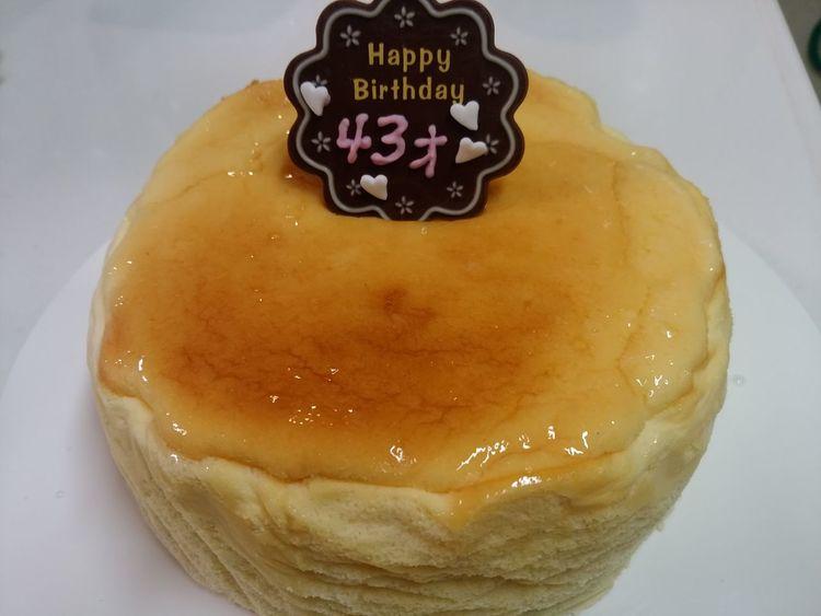 夫の誕生日🎵 チーズケーキ 誕生日 ケーキ スイーツ 手作り Birthday Birthday Cake Cake Cheese Cake Homemade Sweets