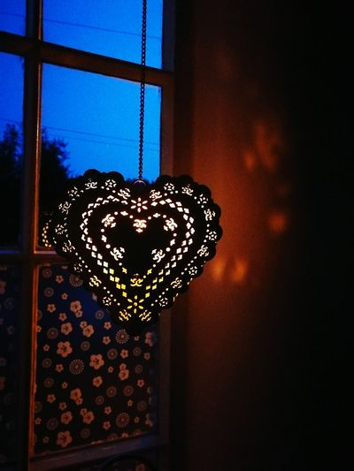 Window Indoors  Close-up Illuminated Sky Electric Light Geometric Shape Focus On Foreground No People Heart Candle Light At Night Home Lamps Candle Beautiful Always Be Cozy Water