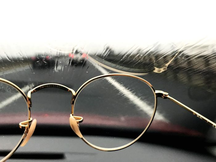 Glasses Close-up No People Glass - Material Focus On Foreground Eyeglasses  Drop Protection Indoors  Day Water Security Vision Personal Accessory Rain RainDrop Rainy Season Transparent Nature Wet