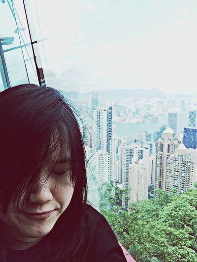 Travel Traveling Hong Kong Thepeak Taking Photos