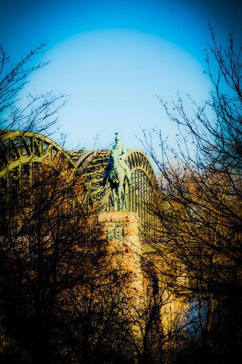 Reiterstandbild Kaiser Wilhelm Arch Beauty In Nature Bridge Day Hohenzollernbrücke Kaiser Wilhelm Denkmal  Monument Nature No People Outdoors Sculpture Silhouette Sky Tree Wilhelm