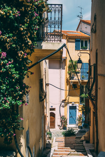 Architecture Côte D'Azur France Freshness Provence Alley Building French Street Summer