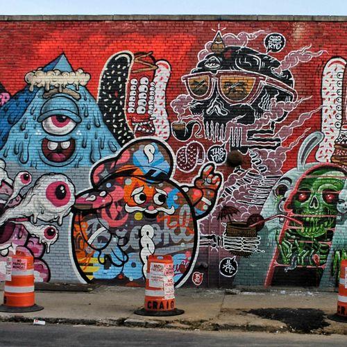 Bushwick Collective x The Yok Collab, Bushwick, Brooklyn Bushwick Graffiti Street Art Brooklyn