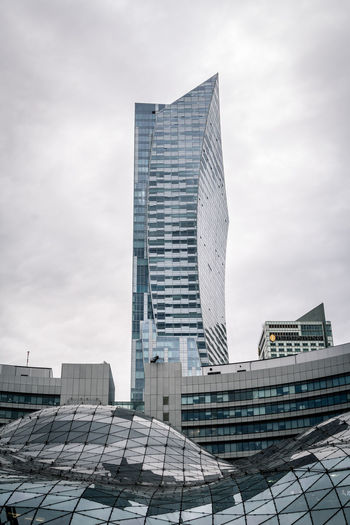 700D EOS Warsaw Warsaw Poland Warszawa  Architecture Building Building Exterior Built Structure Canon Canon_photos Canonphotography Europe Financial District  Glass - Material Low Angle View Modern Office Building Exterior Skyscraper Tall - High Tower Travel Destinations