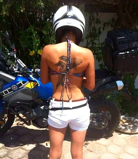 Travelling Bikers_lifestyle Lifestyles MexicoTravelIn Love With Life That's Me OaxacaTravel Tranquility Pace And Love Adventure Oaxaca Coast Oaxaca México  Summer Happy Day