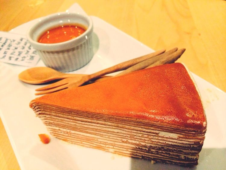 Thai tea cake Cake Love  Dessert Porn dessertlovers Eating Cake