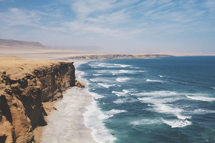 Peru Sea Waves Vscocam VSCO Cliff Tumblr First Eyeem Photo