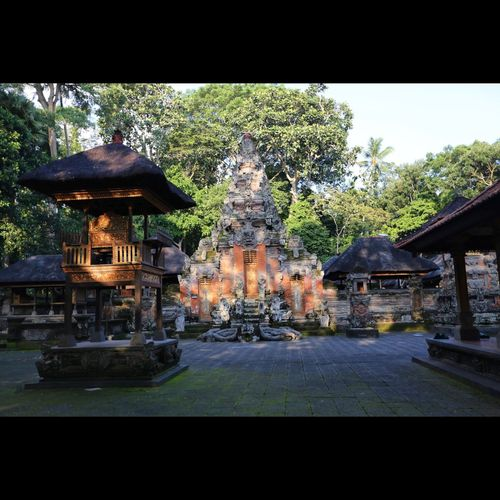 Bali Day Garden Incidental People Monkey Forest Ubud Outdoors Place Of Worship Religion Sculpture Spirituality Statue Temple Temple - Building Tranquility Tree
